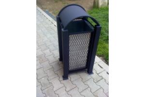 Cos de gunoi metalic - negru