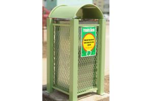 Cos de gunoi metalic - verde