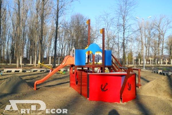 Echipament de joaca pentru locurile de joaca-Vapor
