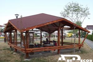 Mobilier urban-Foisor din lemn