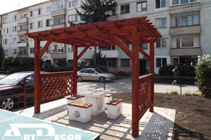 Mobilier urban-Pergole din lemn