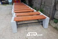 banci din beton cu lemn