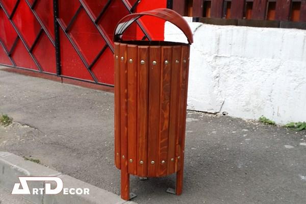 Cos de gunoi rotund