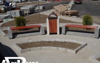 Banca fara spatar din beton