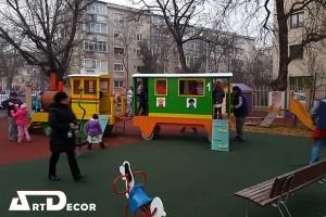 Echipament trenulet pentru parcuri